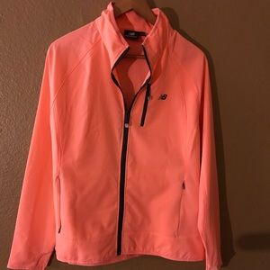 Peach light weight running soft shell jacket